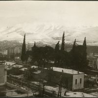Hymettus covered with snow
