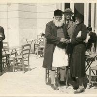 Angelis Kosmopoulos, William Dörpfeld and Mrs. Dörpfeld at Dimitsana